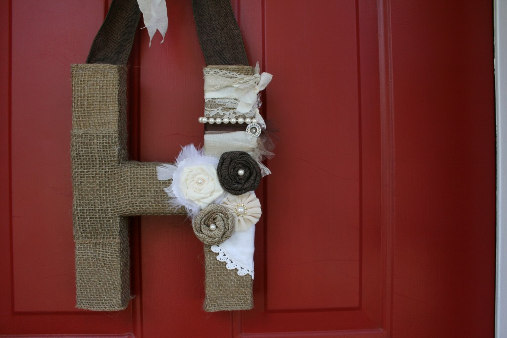 from pinterest to projects final mixed media burlap front door decor art piece