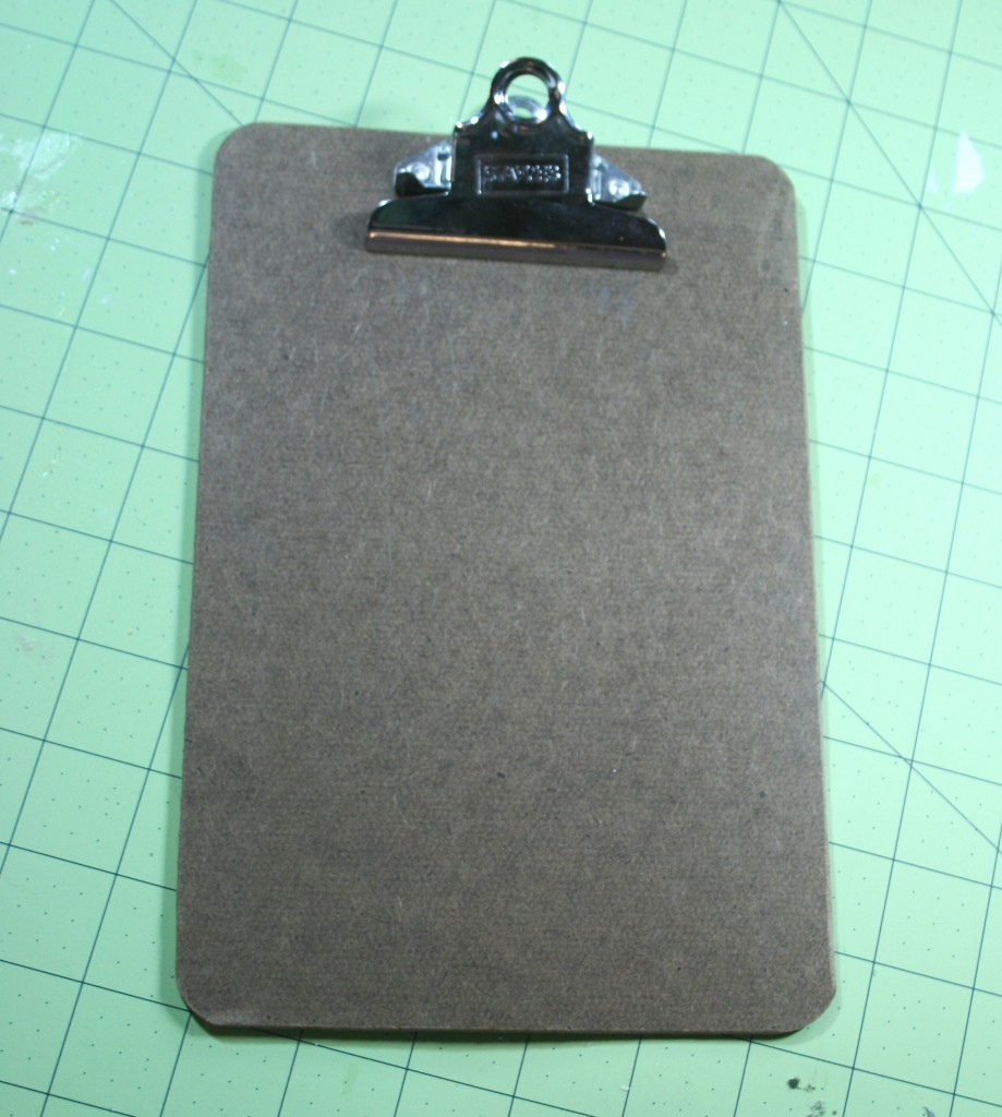 clipboard mixed media project