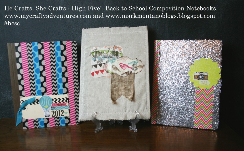 altered compostition notebooks for he crafts she crafts with mark montano