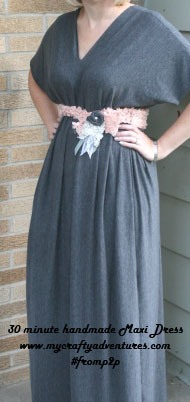 handmade maxi dress pinned on pinterest #fromp2p