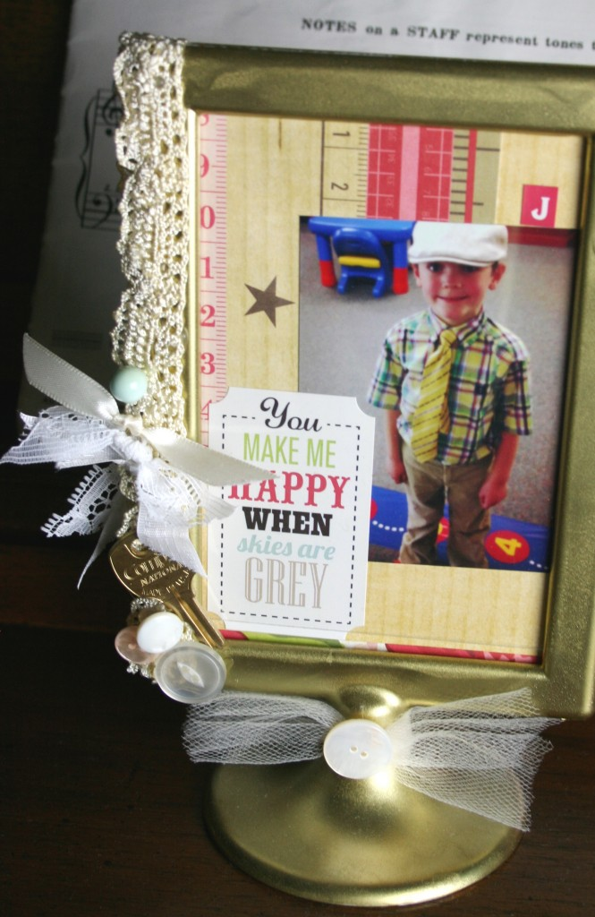 he crafts she crafts with mark montano using ikea picture frames spray paint hot glue ribbon and more to make an altered art mixed media photo frame