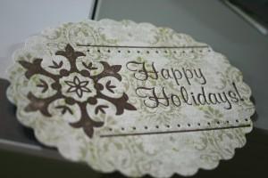 holiday blog hop hostess gift handmade ornament gift bag using fiskars fuse coffee bags mini bottle christmas trees