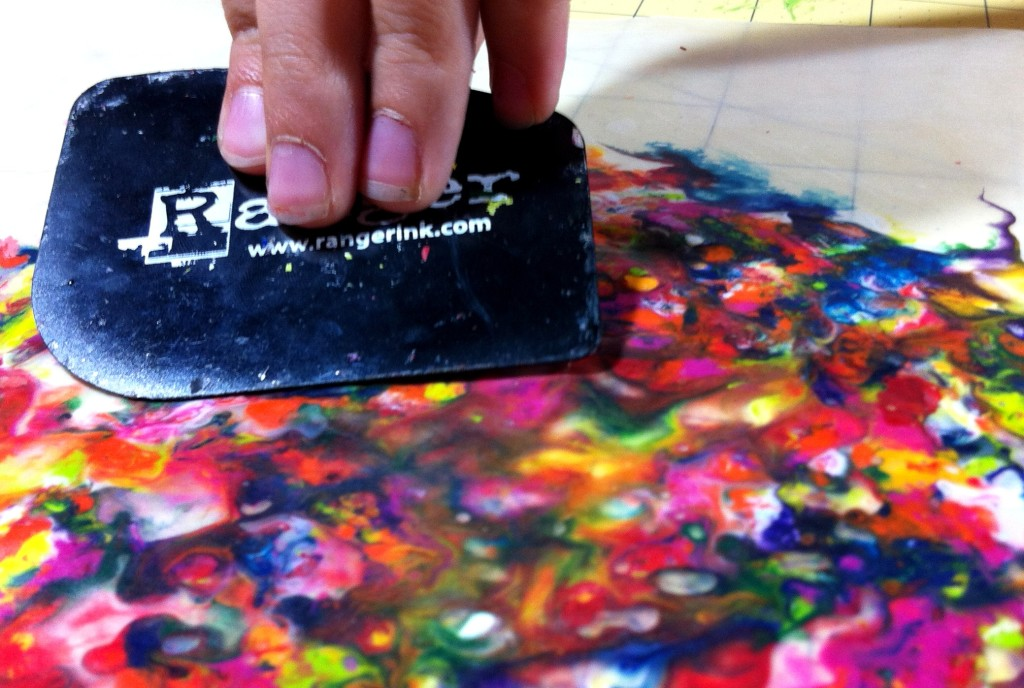 crayon art melting crayons with wax paper to create fun kid art projects
