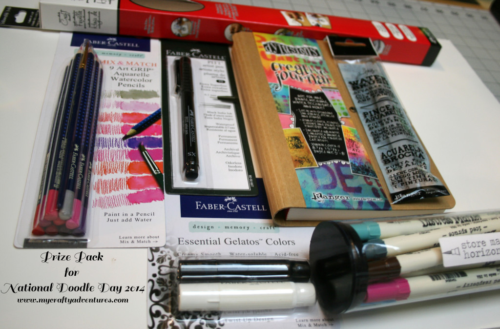 National Doodle Day Prize pack of Ranger and Faber-Castell goodies on www,mycraftyadventures.com