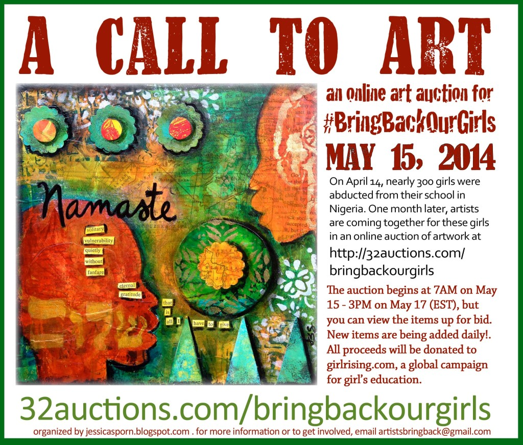 A Call to Art Auction Flyer
