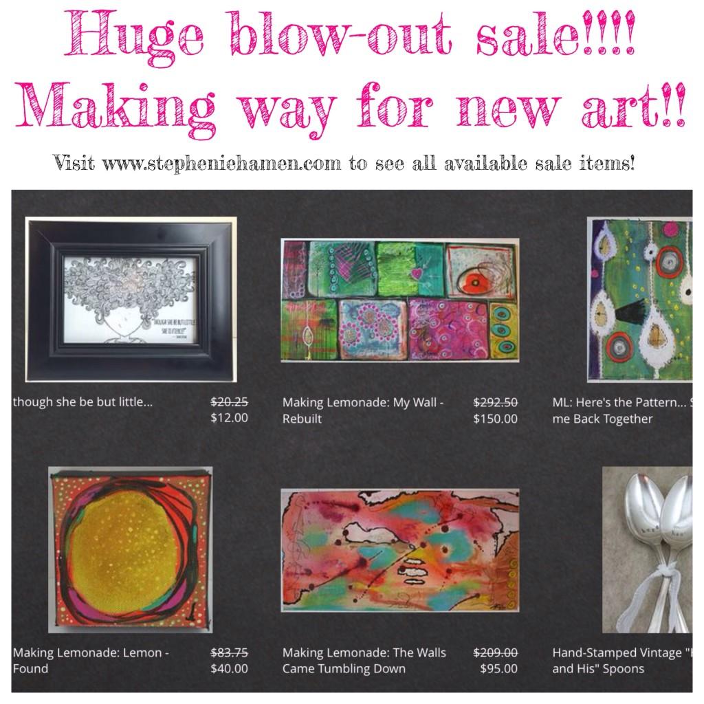 sale, art, my crafty adventures, stephenie hamen, stephanie hamen