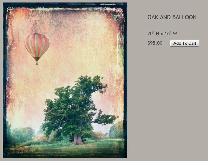 Red Tin Art: Oak and Balloon