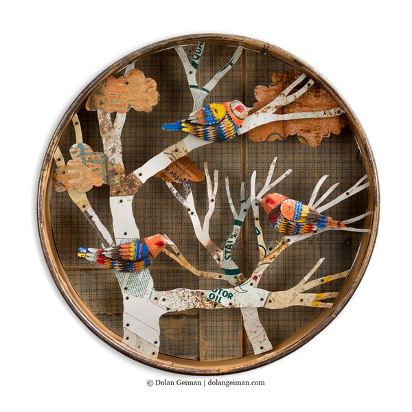 Circular Warblers in Tree Diprama by Dolan Geiman