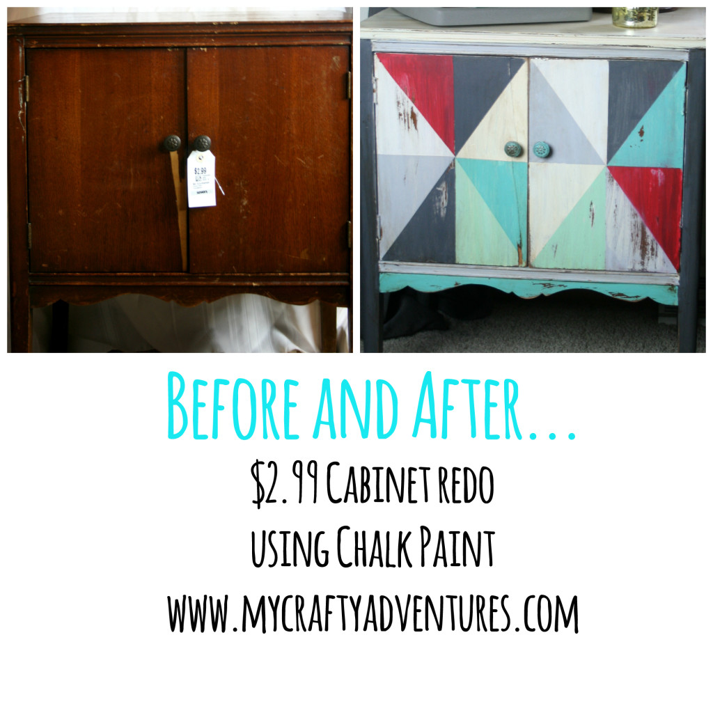 thrift store cabinet redo upcycling furniture with chalk paint by my crafty adventures