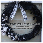 #alwaysreadytacky Halloween wreath dreco