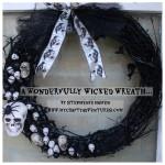 #alwaysreadytacky Halloween wreath dreco
