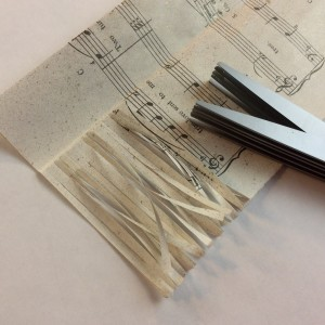 Martha Stewart fringe scissors to create fringe garland