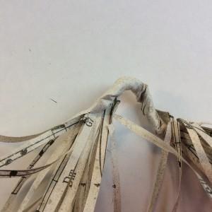 fringe paper garland for the holidays