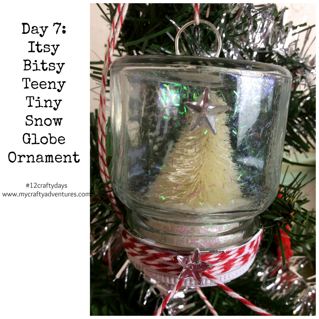 mini ball jar snow globe ornament diy tutorial how to project main