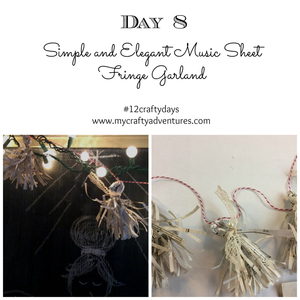 Christmas DIY handmade music sheet garland