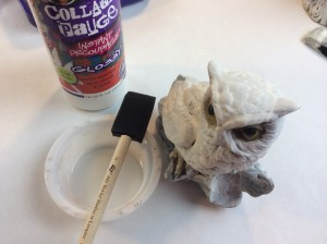 #12craftydays diy snowy owl tutorial upcycling project