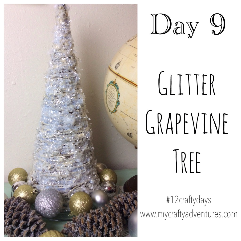 Day 9 #12craftydays glitter grapevine tree diy tutorial