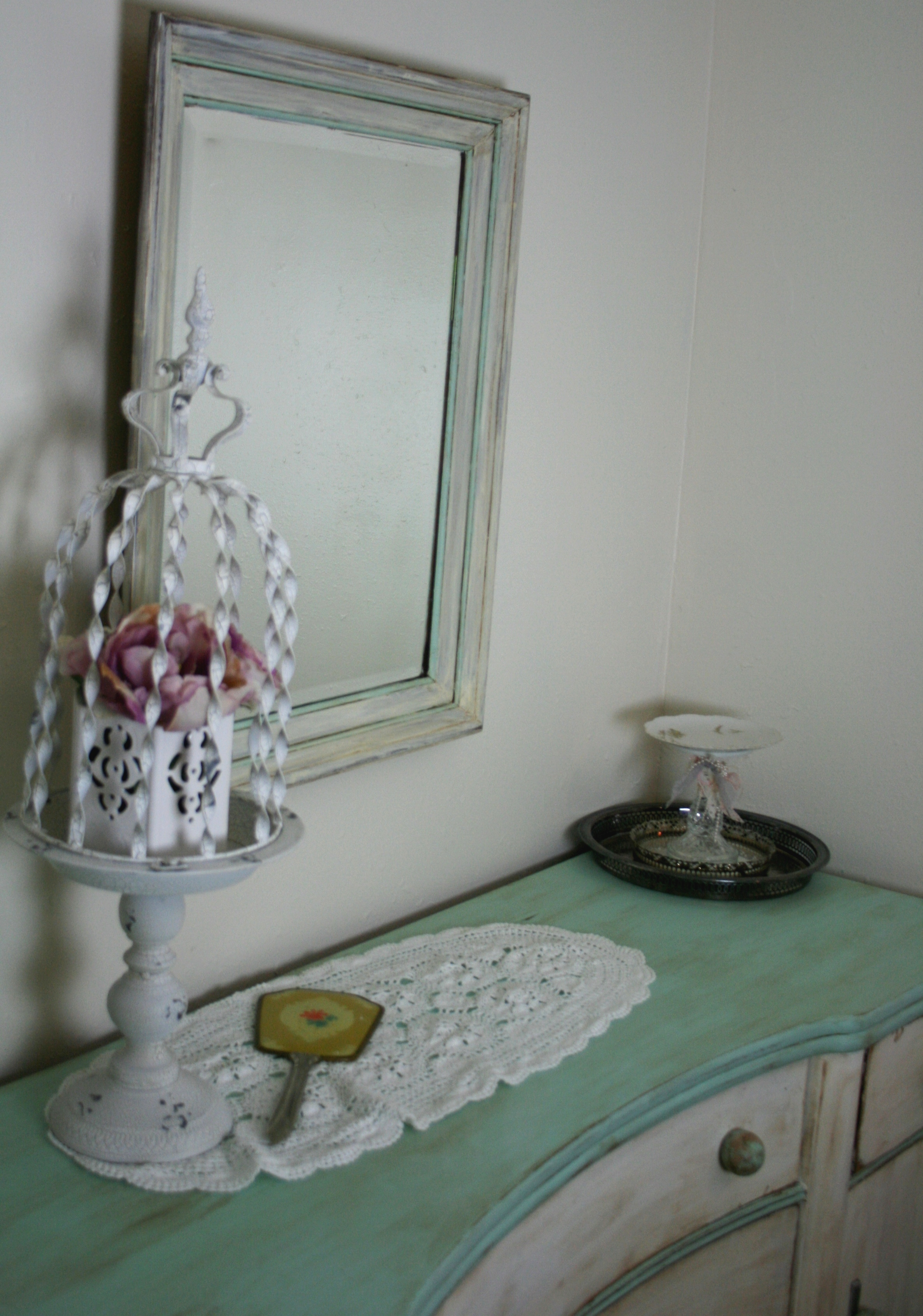 shabby chic mirror makeover my crafty adventures