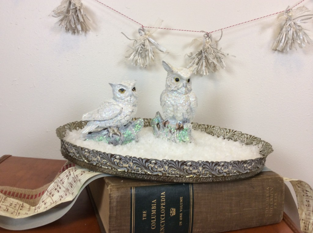 final snowy owl diy upcycled thrift store project