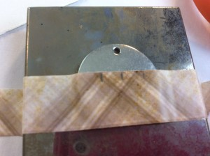 Marking where to stamp on metal