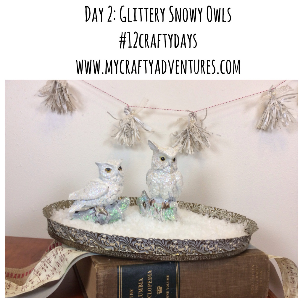 diy snowy owl upcycling project for #12craftydays