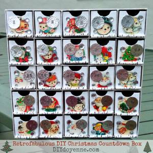 margot potter, #thursdiy, Christmas countdown calendar, advent calendar