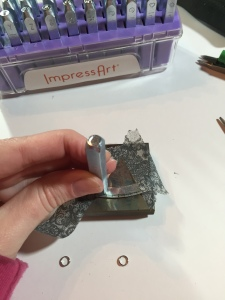 impress art stamping letters into metal