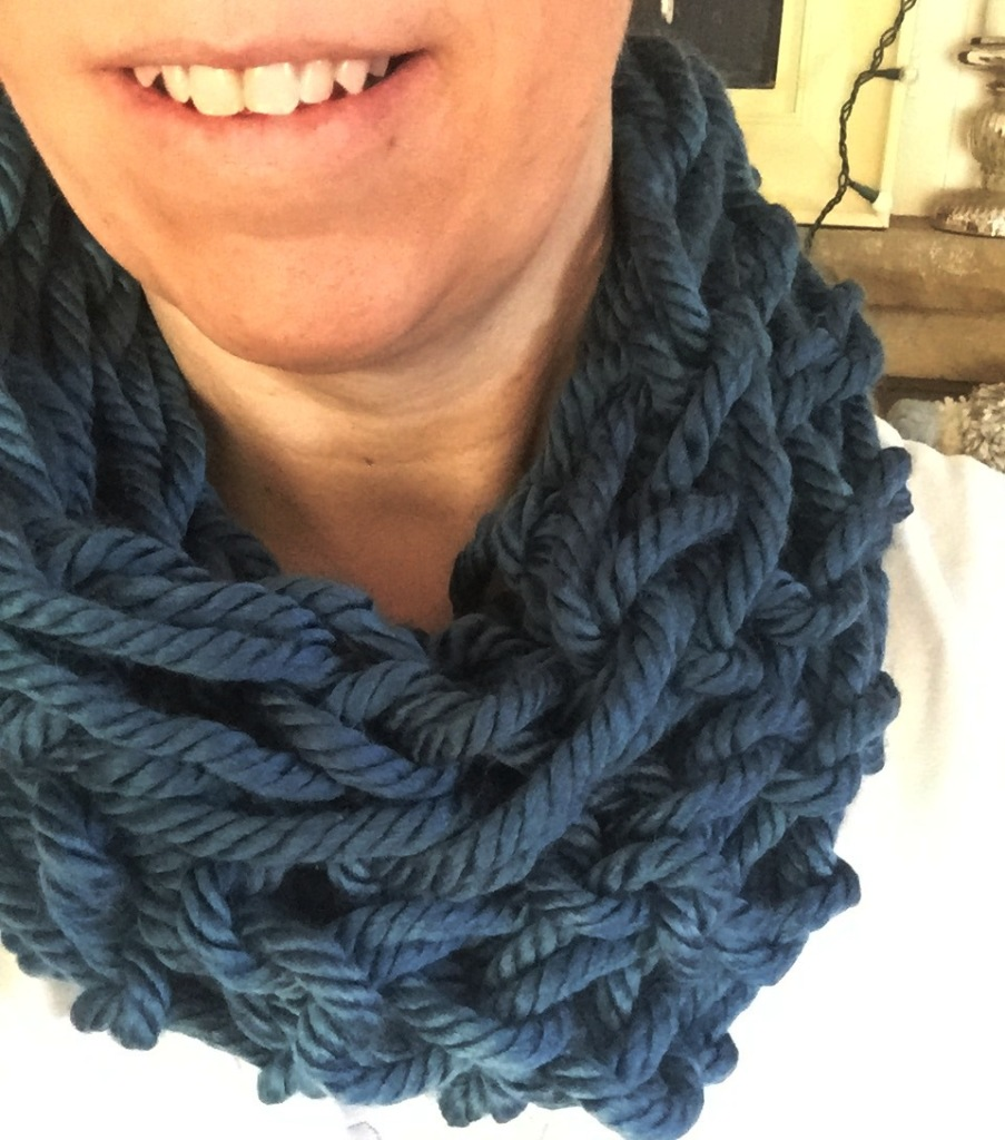 arm knitted cowl scarf