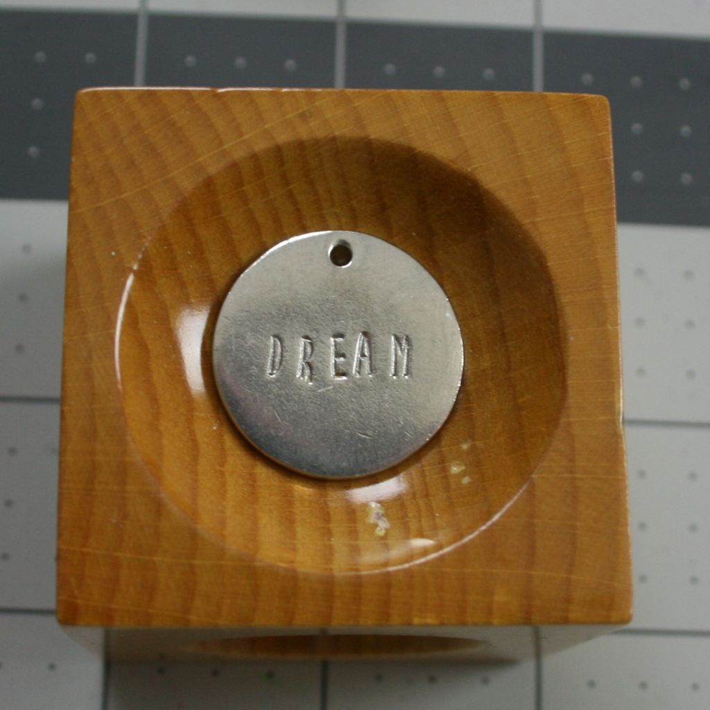 ImpressArt Metal stamped dream tag