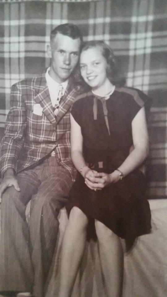 My grandma and grandpa in 1949.  He was 20.  She was 17.