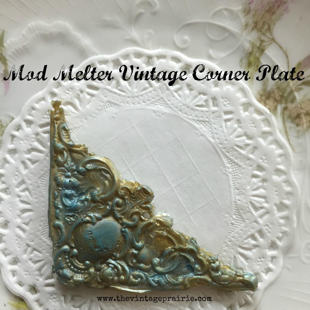 Mod Melter made vintage corner plate