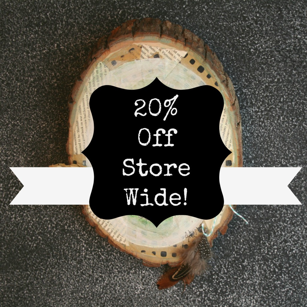 20% off of everything in the store at the vintage prairie by stephenie hamen to celebrate creativelive