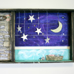 3D Mixed Media shadowbox with Stephenie Hamen  of The Vintage Prairie Livestreaming on April 10, 2015 at  www.creativelive.com