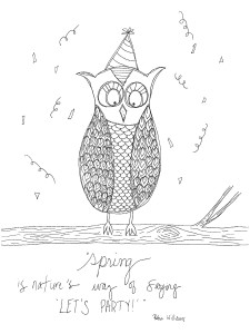 owl coloring sheet download