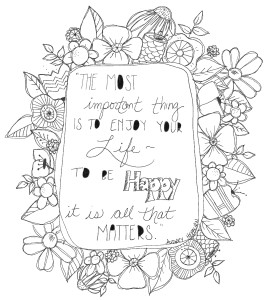 happy coloring page download