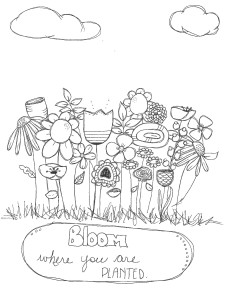 bloom coloring sheet download