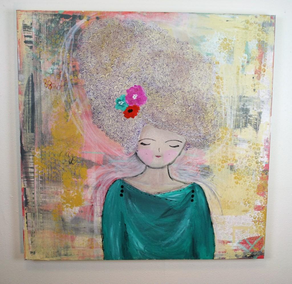 doodle, mixed media, stephenie hamen, paint