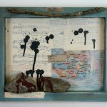 mixed media, shadow box, assemblage, stoning, stoning in 2015, afghanistan, feminism, art