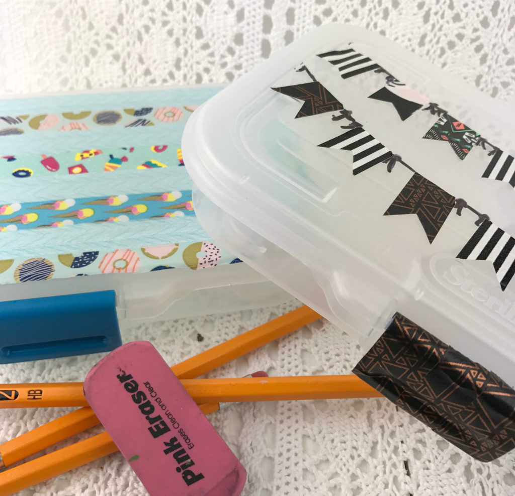 back to school, pencil case, pencils, washi tape, diy, make, diy pencil case