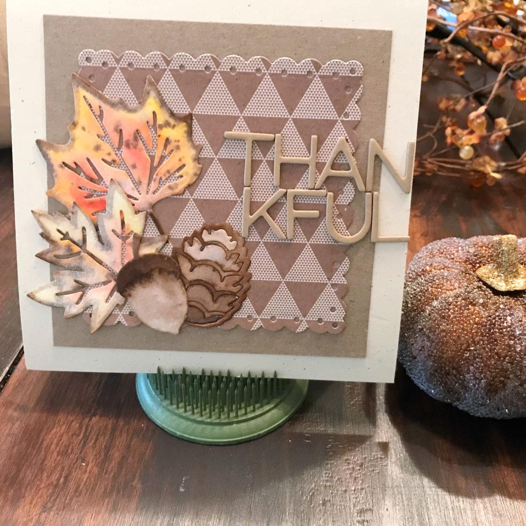 tonic studios, watercolor, card making, fall, autumn, aqua flow, paper crafting